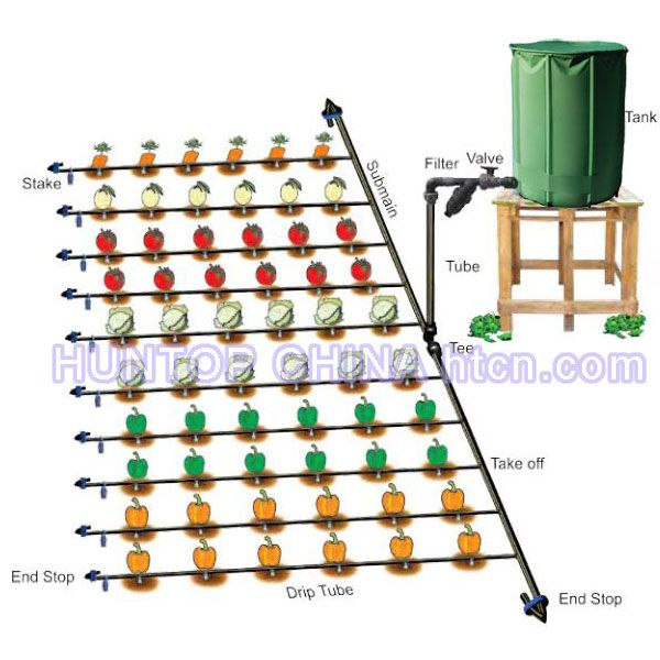 Gravity Drip Irrigation Kit Self Watering System With 750l Collapsible Water Tank For 500m2 100 Drip Irrigation Kit Irrigation System Diy Drip Irrigation Diy