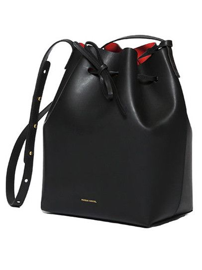Mansur Gavriel Bucket Bag - Black/Flamma