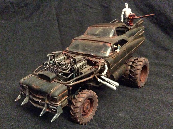 Gigahorse 1/24 scale Mad max road, Custom hot wheels