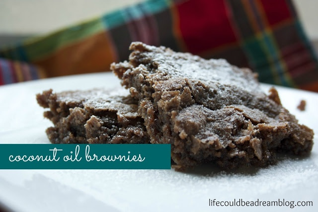 my favorite brownies {coconut oil instead of butter}