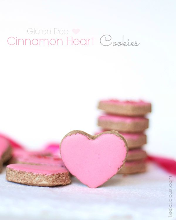 Gluten Free Cinnamon Heart Cookies - this delicious chewy cookie recipe makes a wonderful holiday dessert treat that is gluten and grain free