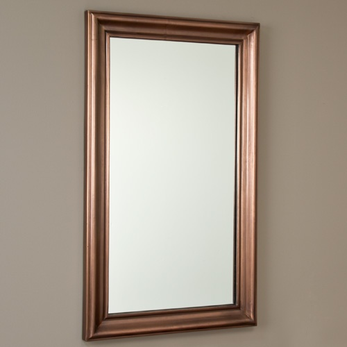 Beautiful And Simple Rectangular Smooth Copper Mirror