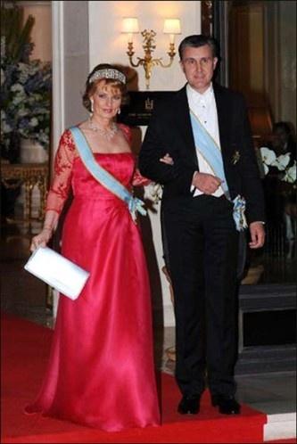 Romania's Crown Princess Margarita and her husband Radu Duda