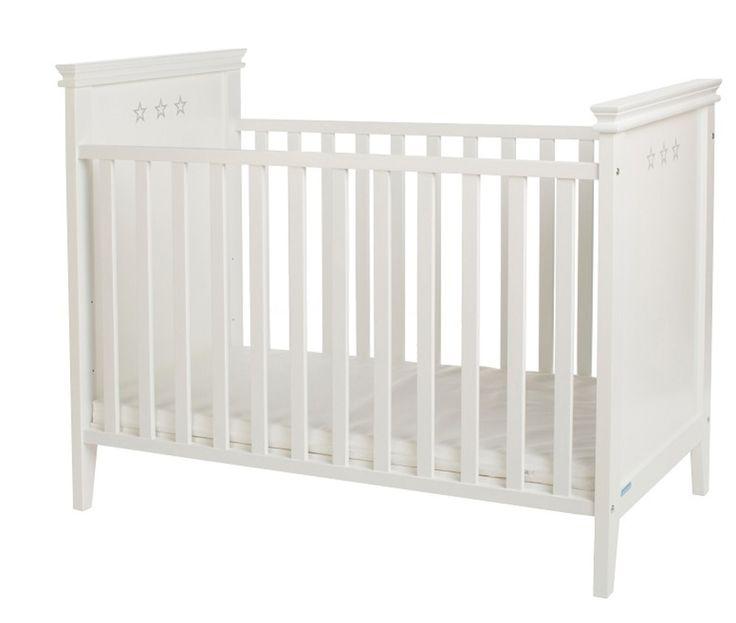Jack&Lily Spjälsäng Star 60x120cm Vit #jollyroom #säng #bebis #sömntuta #sova #barnrum