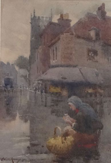 Artwork by William Lee-Hankey, The Flower Seller, Made of Watercolour