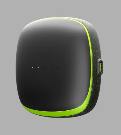 Check this out on leManoosh.com: #Black #Cable #Color Accent #Container #Electronics #Green #Material Break #Rounded