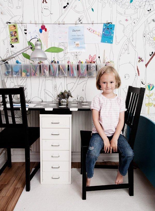 детский стол для творчества   Письменный стол для двоих детей