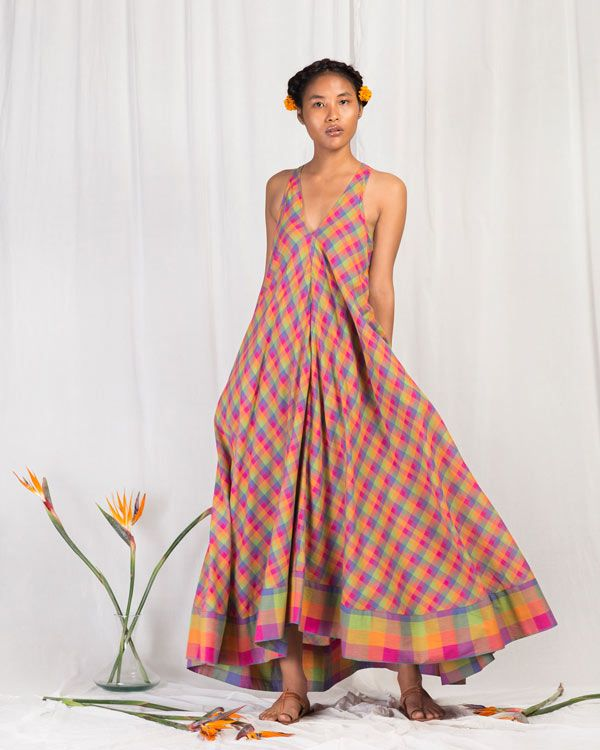 bfed13b1bf Akira Twist-back Check Dress from New Arrivals collection at Nicobar.  Nicobar is for modern consumers who seek connection with things they  acquire.