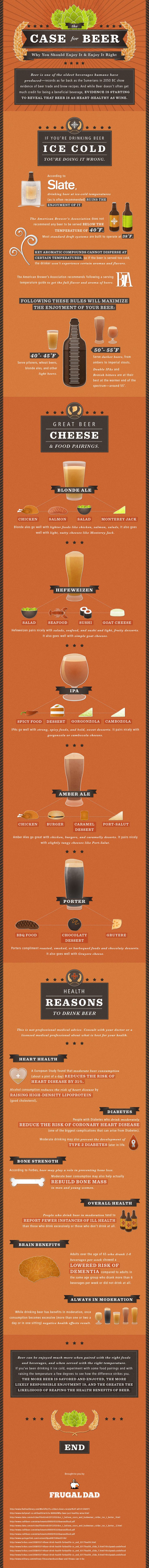The Health Benefits of Drinking Beer, Infographic...as if I needed more reasons to drink beer...