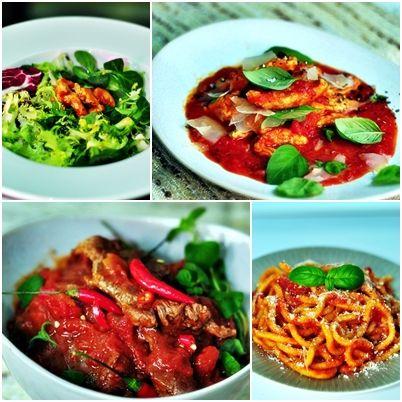 Autorka bloga http://kulinarnapiniata.pl przygotowała smakowite stylizacje potraw z Sosami Włoskimi Łowicz.
