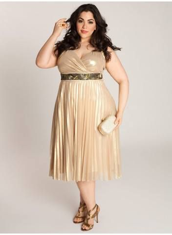 Plus size cream colored dress - Plus dress store