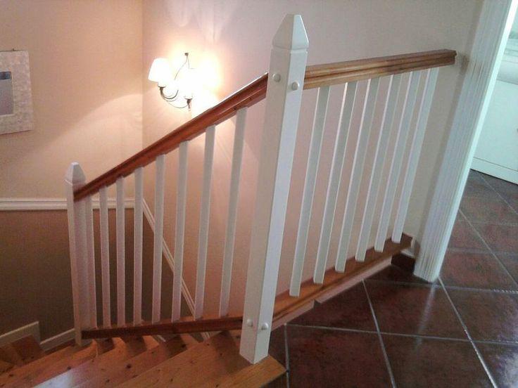 17 mejores ideas sobre escaleras de madera pintada en - Pasamanos de madera para escaleras ...