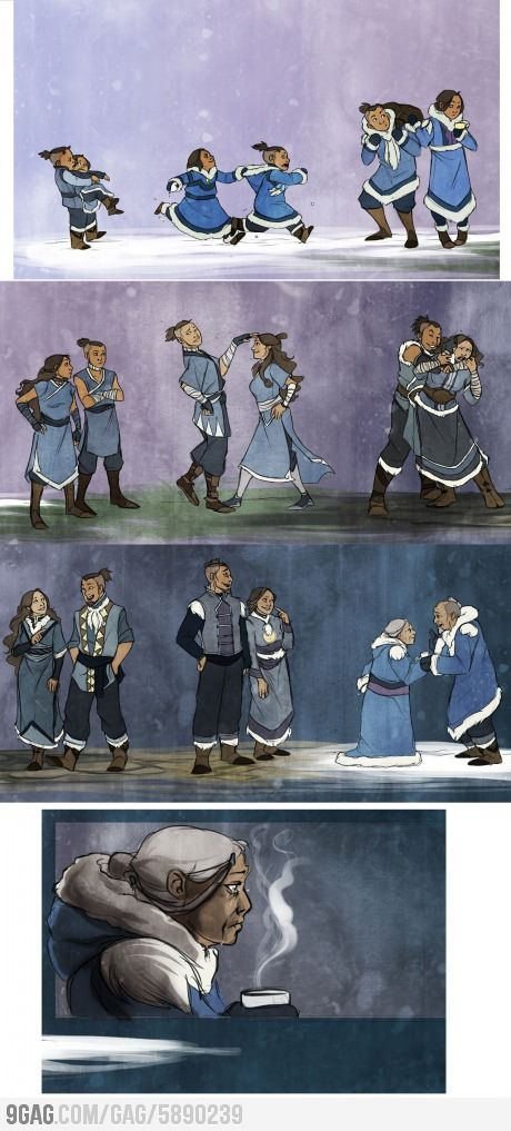 This is honestly what played through my mind when Katara mentioned Sokka in The Legend of Korra...