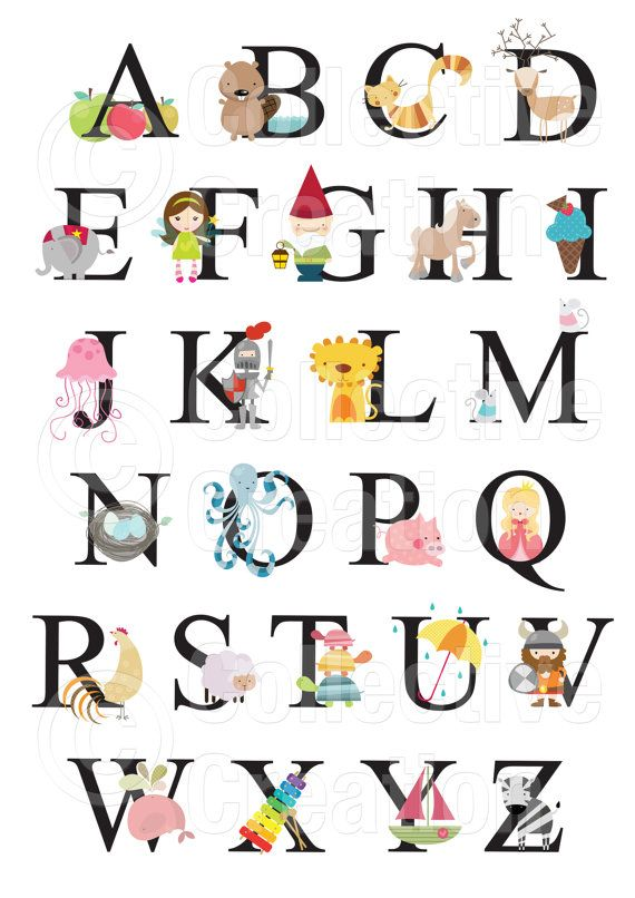 Pin by Emily Cunningham on Illustrations | Alphabet print ...