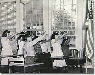 """Hitler ruined several perfectly good things forever -- tiny mustaches, the swastika as a good luck charm, and all hand signals that look anything like the """"Heil Hitler"""" salute. But Hitler didn't invent any of them. For decades, children across America happily heiled the Stars 'n' Stripes in what was then known as the Bellamy salute."""