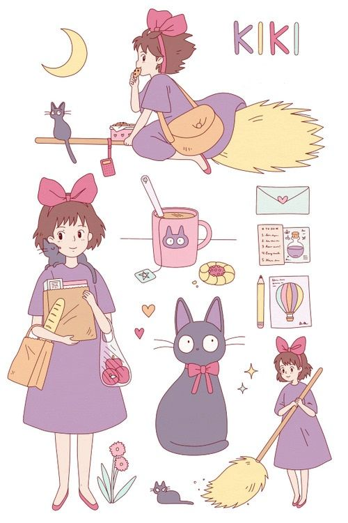Kiki's Delivery Service~ I loved that film, it was good ;3