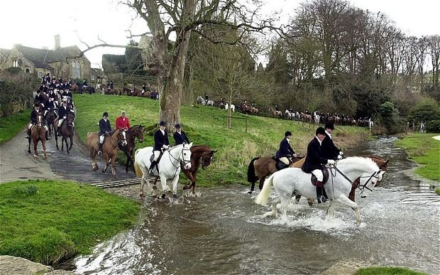 """U.K. Prime Minister David Cameron's former fox hunting buddies have been convicted of breaking the law by riding out on a fox hunt.  Cameron used to ride out on the infamous Heythrop Hunt, but says he has desisted since a ban on fox hunting went into effect in 2005.  The ban is routinely ignored, however, by those whom Oscar Wilde called """"the unspeakable in pursuit of the uneatable."""""""