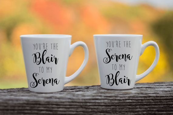 Best Friend Coffee Mug Pair  Gossip Girl Mug  by HlessCreations
