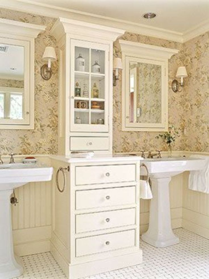 55 Brilliant Ideas For Cottage Style Bathroom Design Cottage Style Bathrooms Cottage Style
