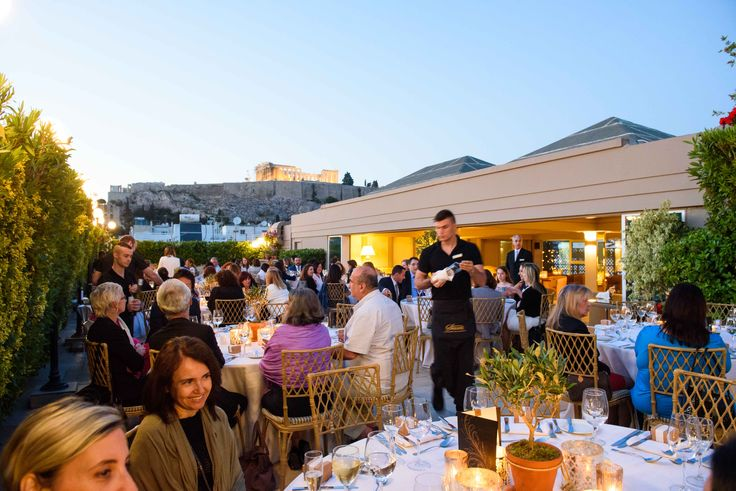 A corporate event at Acropolis Secret Roof Garden  http://divaniacropolishotel.com/dining.html
