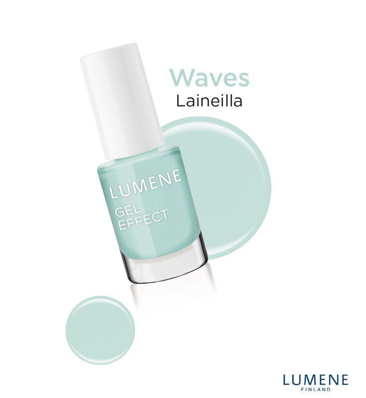 New Lumene Gel Effect Nail Polish shade 6 Waves #Lumene #nailpolish