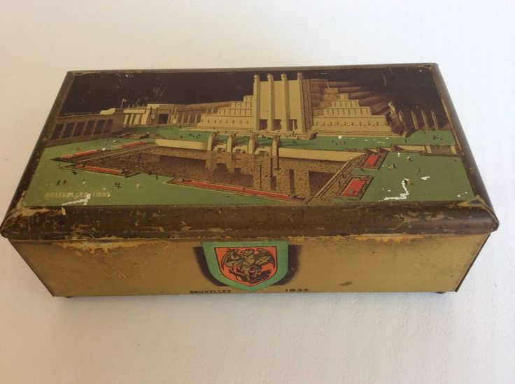 ANCIENNE BOITE TOLE LITHO PUB CÔTE D  OR TABLETTES CHOCOLAT EXPO BRUXELLES 1935