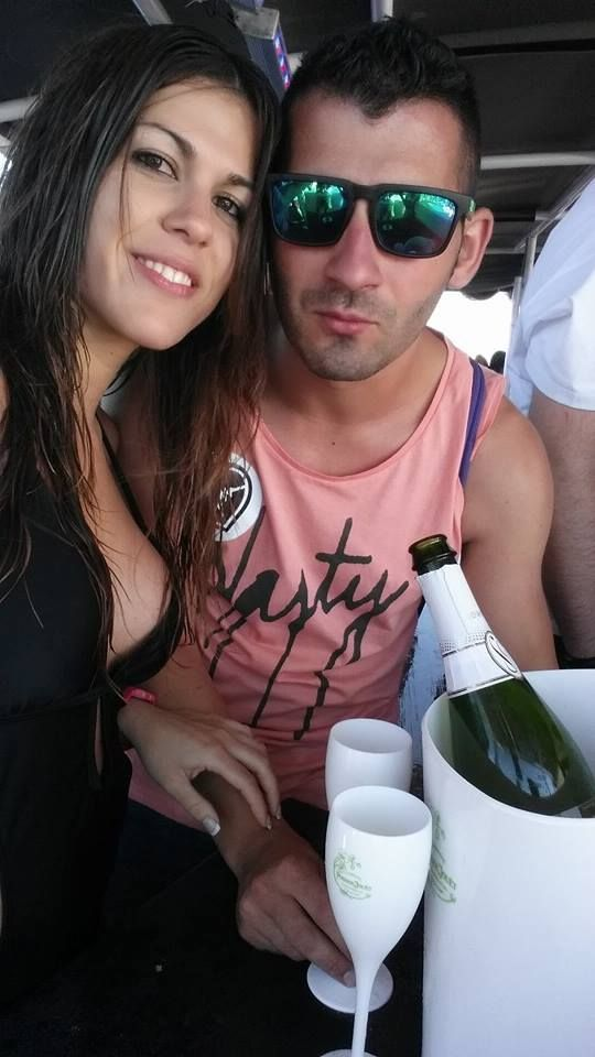 Esther at the Magic Boat Party in #Ibiza ;)