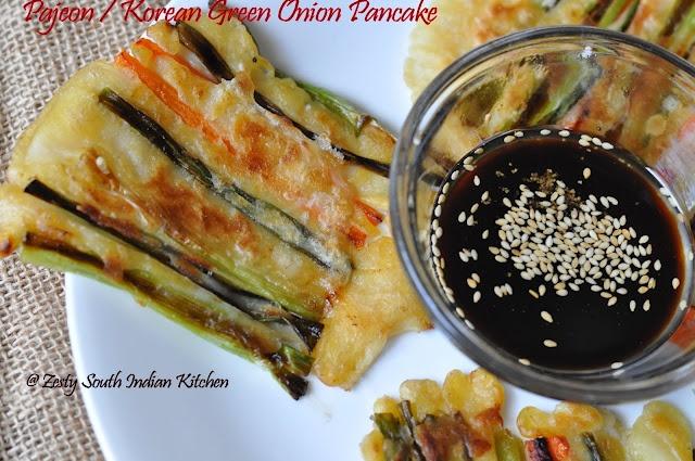 Pajeon: Korean green onion pancake. Delicious snack, you are going to ...