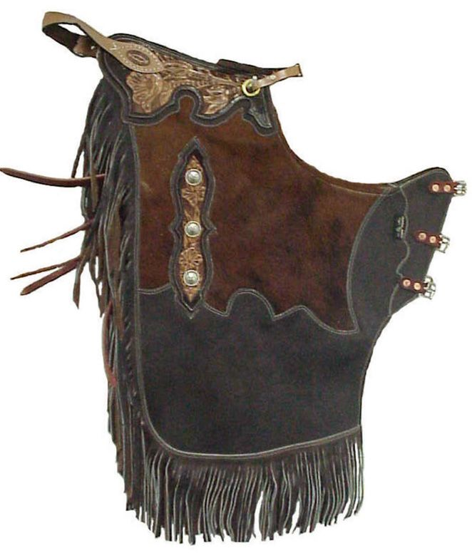 Pungo Ridge, Home of Western Boot Sales - Online Western Store - Rended Cowhide/Leather Chinks - Brown, Custom Made Chaps & Chinks, SB-27-30A