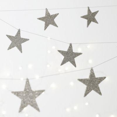 Glitter Star Garland from The White Company #whitechristmaswishlist
