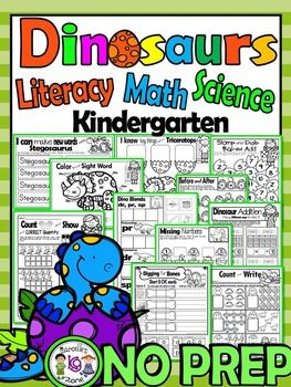 This 80 page package includes literacy, math and science printables related to dinosaurs.  The tools in this package are age appropriate for Kindergarten to grade 1 students.  Please see below what it included.***********************************IMPORTANT*****************PLEASE BE ADVISED THAT THE PRINTABLES IN THIS PACKAGE HAVE BEEN EXTRCTED FROM THE PACKAGE SHOWN BELOW (LINK) SO PLEASE DO NOT GET THIS IF YOU ALREADY HAVE MY DINOSAURS CENTERS AND PRINTABLES PACKAGE.