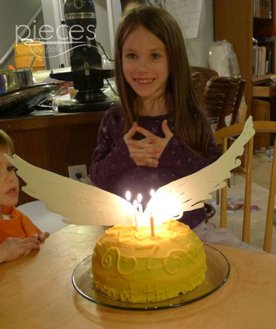 Pieces by Polly: Golden Snitch Birthday Cake - Harry Potter Birthday Cake