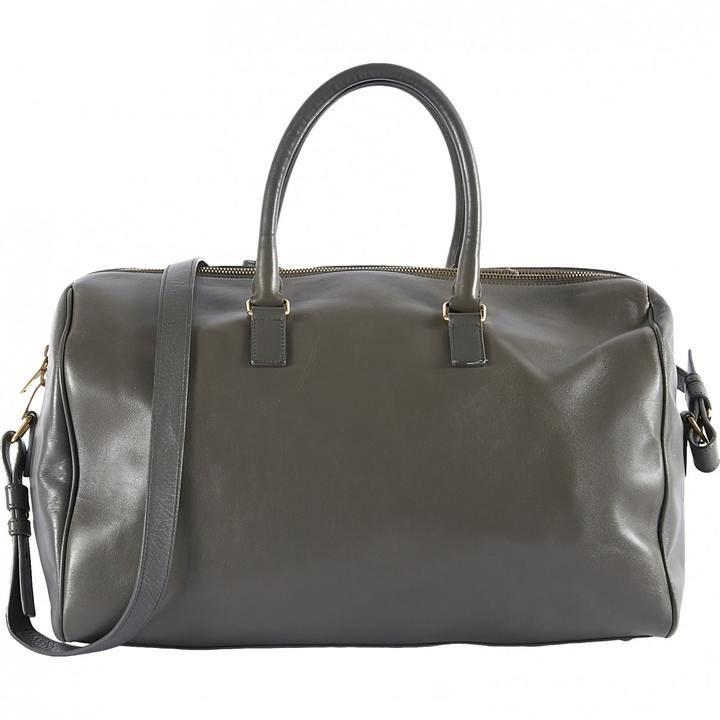 Saint Laurent Duffle leather bowling bag