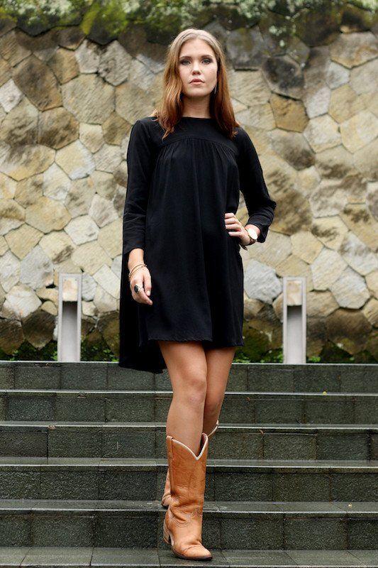 Mr November Dress - Black Crepe