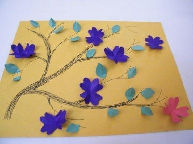 Tarjeta con flores para el Día de la Madre