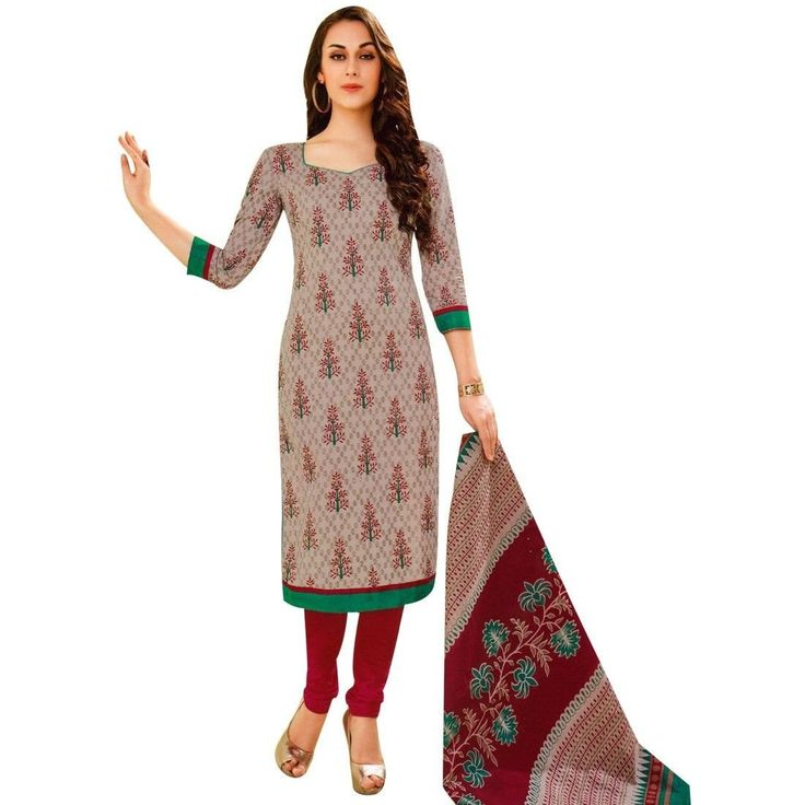 Readymade Designer Ethnic Printed Cotton Salwar Kameez Suit Indian  #Designer #ShopNow #NewStuff #SalwarSuit #SalwarKameez #LowestPrice #FreeShipping #DressMaterial