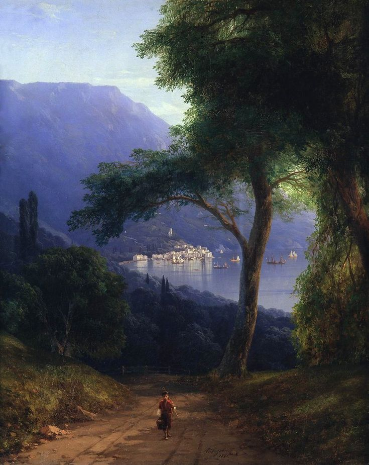 Ivan Aivazovsky, View from Livadia, 1860