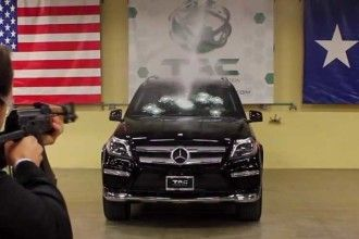 Mercedes-Benz GL-Class Shot At With AK-47 With CEO In Driver's Seat