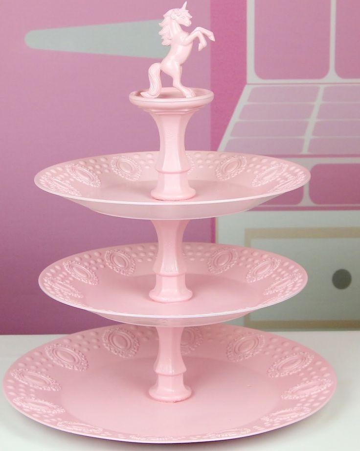 {VIDEO} DIY Dollar Store Cupcake Stand (Diy Candles Dollar Stores)
