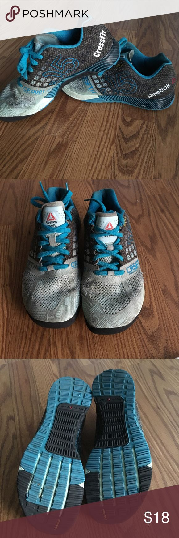 7.5 Reebok Nano 5 Used Womens Reebok Nano 5! I bought a new pair and just need to room for them :) They have been used a good  amount times as you can see through the wear of the shoes. Still in good usable condition! 🔵👟⚫️ Reebok Shoes Athletic Shoes