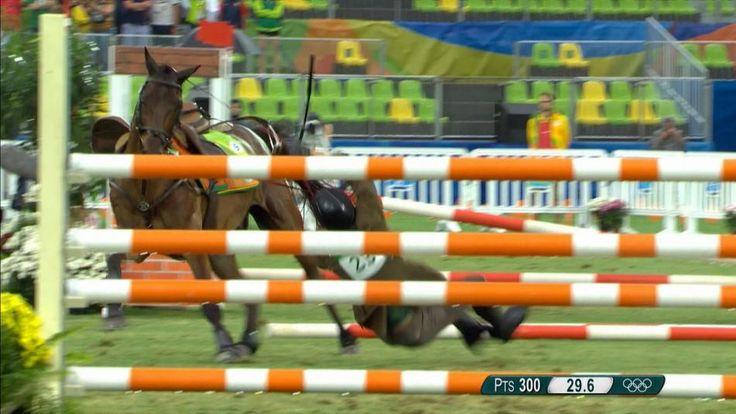 Rio 2016 Olympics Modern Pentathlon -  Riders struggle with unfamiliar horses | NBC Olympics