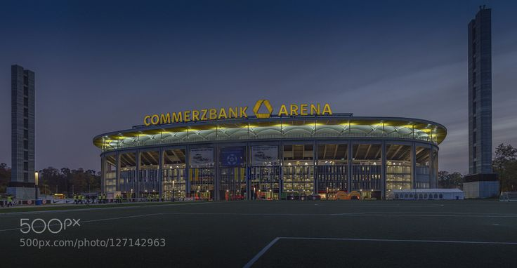Frankfurt Commerzbank Arena (at night) by ulrichroth