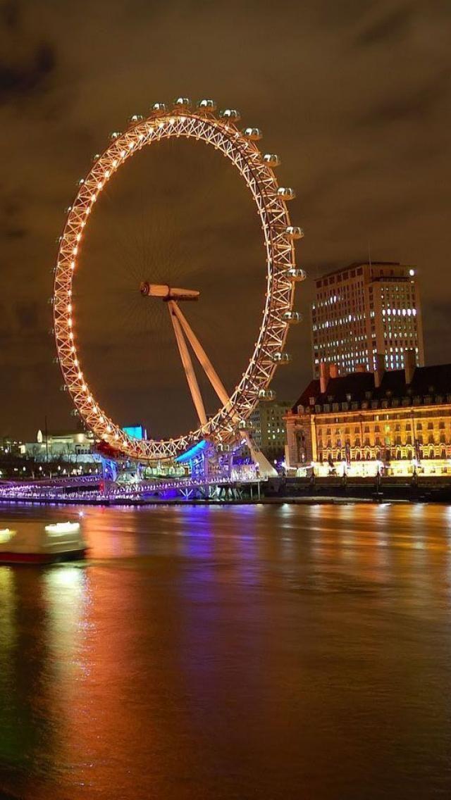 London Eye,Night,  London, England