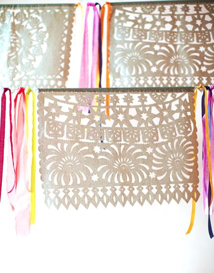 Papel Picado Banners // Your Guide to Hosting a Chic Cinco de Mayo Party // entertaining, parties, decorations