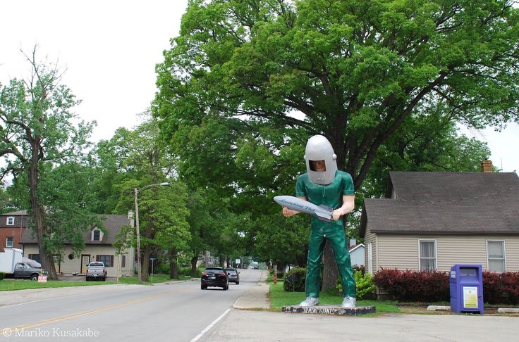 """ Gemini Giant "" in Wilmington Illinois  "" Route 66 on My Mind "" Route 66 blog ; http://2441.blog54.fc2.com/ https://www.facebook.com/groups/529713950495809/ http://route66jp.info/"