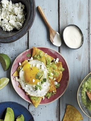 ... from The Nest - Chilaquiles with Fried Eggs, Salsa and Goat Cheese