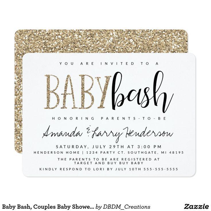 Baby Bash, de Uitnodiging van het Baby shower van Paren | Zazzle.com