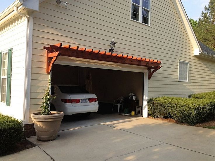 Pergola Over Garage An Excellent Option Garage Arbor