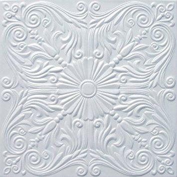 "Faux Ceiling Tile - 20x20"" Astana White Foam"