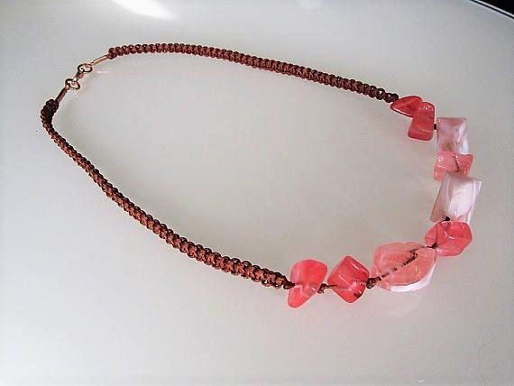 Handgemaakte kralen ketting licht roze murano kristal kralen